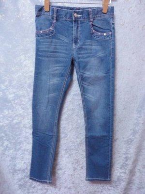 bossini~刷色彈性牛仔褲~SIZE:150~99元起標