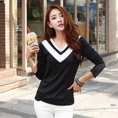 =EF依芙=韓國首爾 時尚精品 東大門同步 名韓妮6309 正韓 流行前線 長袖百搭修身顯瘦T恤