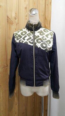 【二手】Q TOP GIRL 深藍色立領防風小外套