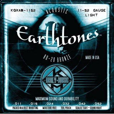 ☆ 唐尼樂器︵☆ Kerly Strings Earthtones 系列冰火弦 KQXF-BZ-1152 (11-52) 80/20黃銅美製民謠吉他弦