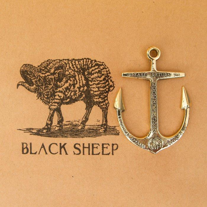 黑羊選物 同NEIGHBORHOOD款 黃銅船錨復刻鑰匙圈 白銅 兩色可選 手感扎實 有重量感 潮流小物 適合送禮