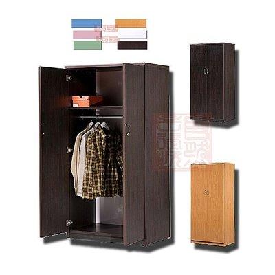 [自然傢俱坊]-抗潮防水-(強化塑料-塑鋼)-RB-8300-舞鶴-(3*6尺)-雙門衣櫃(組裝成品)91*62*180