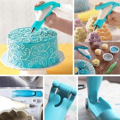 裱花筆裱花器套裝裱花輔助器含4個花嘴 轉換器烘焙工具全館免運