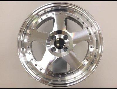 和田☆ (HY669) 17吋4孔100 鑽石車面鋁圈 深唇/海拉風-7.5J-ET30