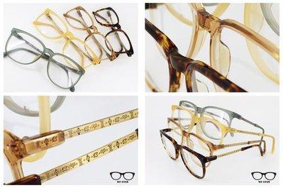 【My Eyes 瞳言瞳語】BADA GRACE 復古鏡架 威靈頓框型 強尼戴普 tart optical(BA980)