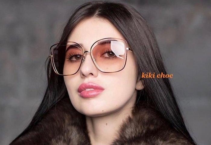 ♥kiki choc♥ 彩紋鏤空鏡框邊框小臉眼鏡 太陽眼鏡墨鏡 孫芸芸
