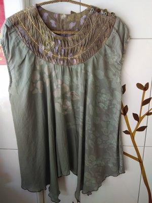 Prefer綠色渲染花紋上衣