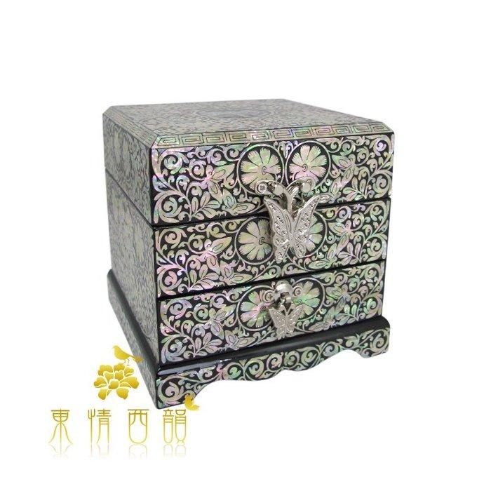 【芮洛蔓 La Romance】 東情西韻系列全貝纏枝雙層首飾盒 / 珠寶盒 / 收納盒 / 母親節 / 送禮