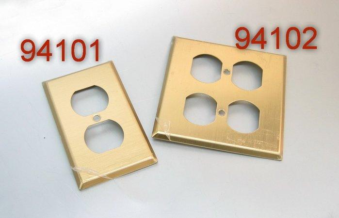 [山姆音響] 精緻生活設計師專區 --美國進口Cooper  94101/ 94102 純銅兩孔電源蓋板