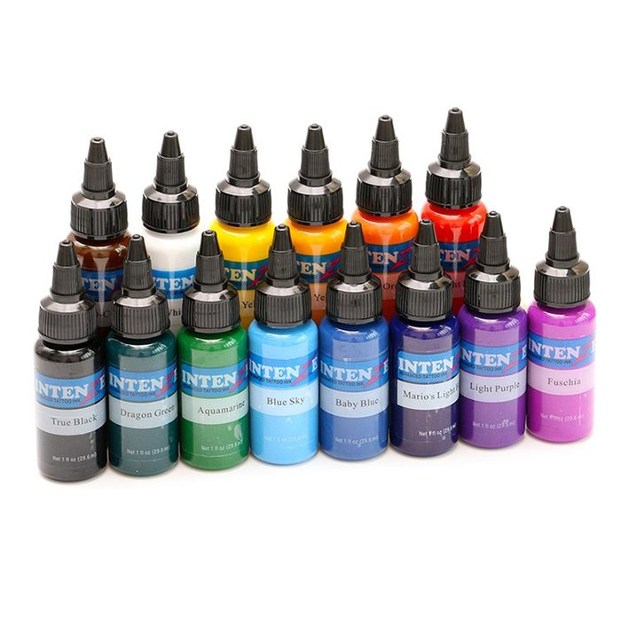 DREAM-紋身刺青顏料 紋身墨水彩色套裝 紋身銀丹斯色料30ml透明標簽新款