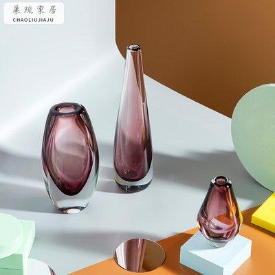 新品簡約現代花瓶擺件樣板房軟裝家居飾品客廳創意工藝品花器