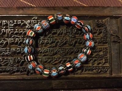 小西藏藏傳文物 老貿易珠 雪芙蘭 、老唸珠、手串、老琉璃珠 配珠 隔珠 特價1000