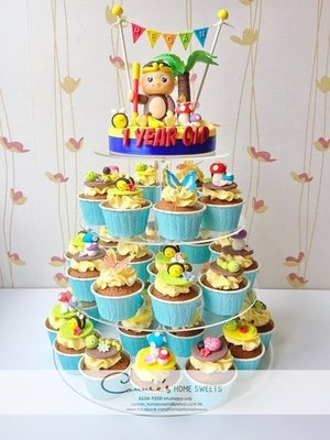 【Connie's Home Sweets】Cupcake tower 生日蛋糕 百日宴蛋糕 100 days cake birthday cake