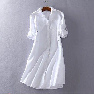 襯衫裙 #I-038 男友襯衫洋裝