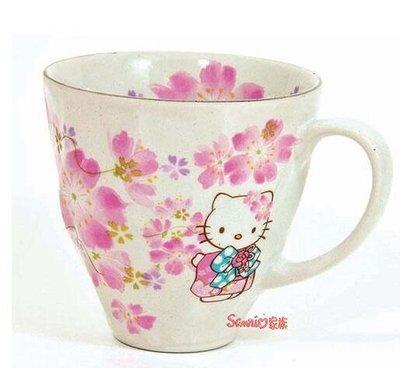 《東京家族》Hello Kitty的美濃櫻花陶瓷杯(現貨)
