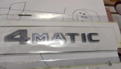 賓士車標 貼標 4MATIC