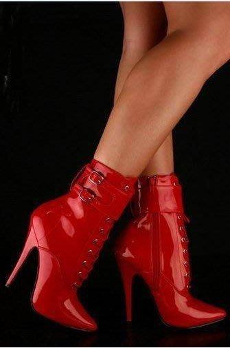 """""""西西莉亞""""性感高跟踝靴  5寸高跟鞋  表演鞋 高級訂制鞋可定做 146# 可量身定做!"""
