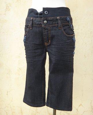 jacob00765100 ~ 正品 設計師 YEUSEN 黑色 彈性 七分牛仔褲 size: S