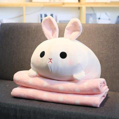 公仔抱枕被子兩用汽車辦公室抱枕靠墊被子毯子午睡枕空調毯二合一  IGO