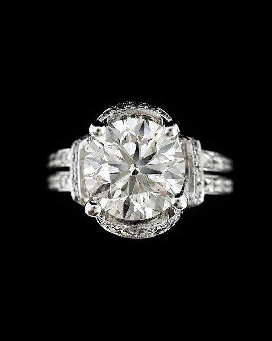 【英皇精品集團 】天然鑽石戒指 3.01克拉 女戒