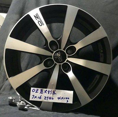 【優質輪胎】OZ 16吋 4孔100全新鋁圈_義大利製(YARIS FIT VIOS CIVIC LANCER)三重區