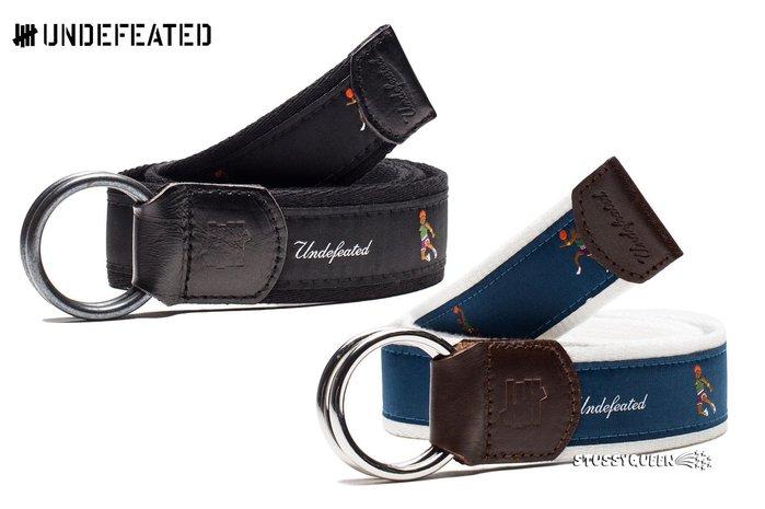 【超搶手】全新正品 最新 現貨 UNDEFEATED WINGS BELT 雙環 皮帶 腰帶 黑色 藍色