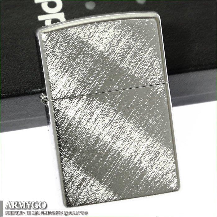【ARMYGO】ZIPPO原廠打火機-刷紋系列-NO.28182 (對角線編織紋路)