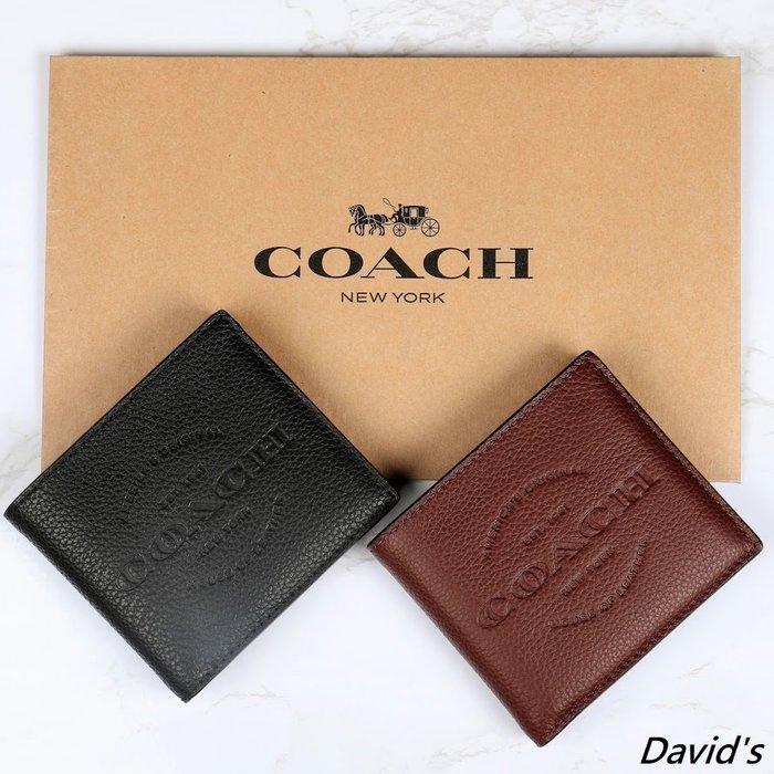 附發票 Coach 真皮 皮夾 美國大衛 情人節禮物 父親節禮物 美國代購 logo