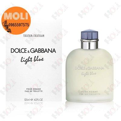 ◇MOLI 莫麗◇Dolce & Gabbana Light Blue D&G 淺藍男淡香水125ml TESTER
