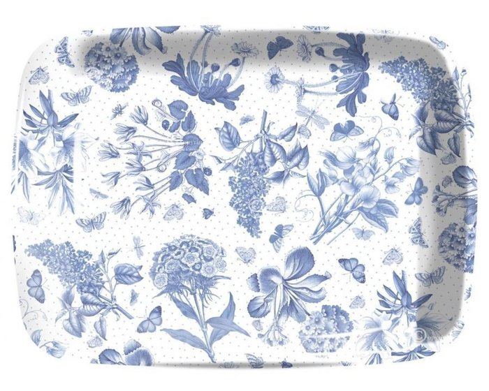 蘇菲亞精品傢飾~英國百年品牌Botanic Blue美耐皿托盤餐盤(大款)