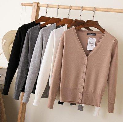 針織外套 開衫上衣  外搭空調衫 防曬衣 薄款披肩外套—莎芭