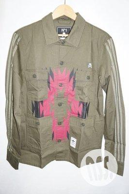 「NSS』Adidas Neighborhood BDU Shirt 軍事 襯衫 綠 XS S M