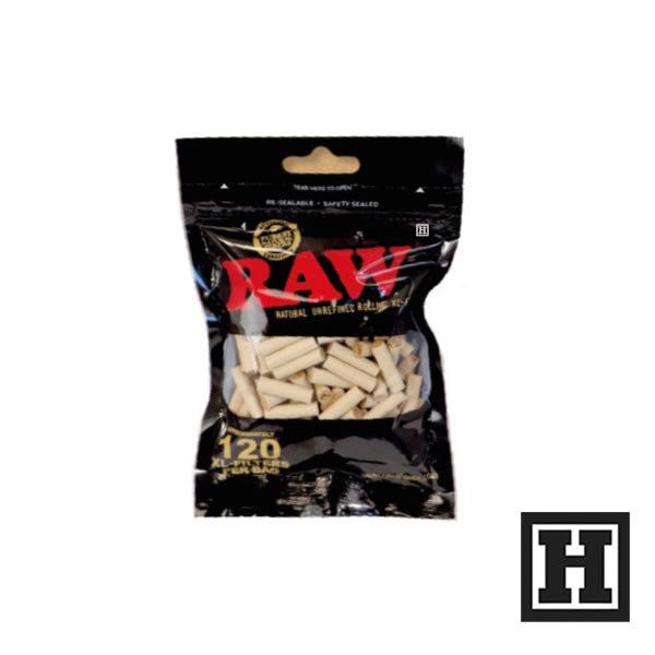 [H Market] 西班牙 RAW Filter Tips Black 6mm 細版 紙濾嘴 Slim 一包120入