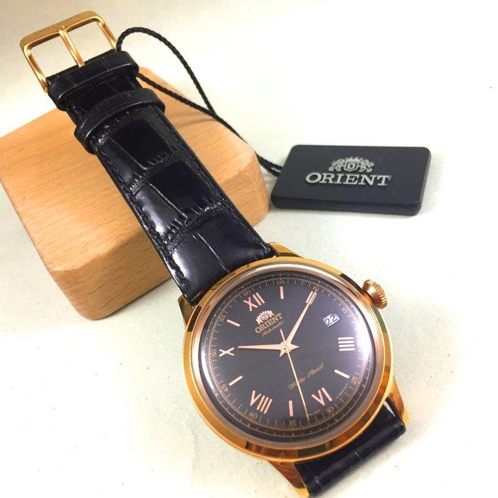 全新 公司貨 ORIENT 東方錶,DATE系列-羅馬競技機械錶 (黑_皮帶)  WJ FER24008B  免運
