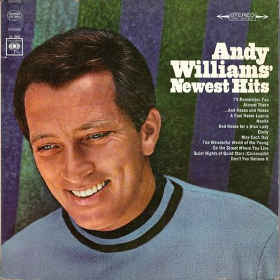 美國二手黑膠Andy Williams' Newest hits