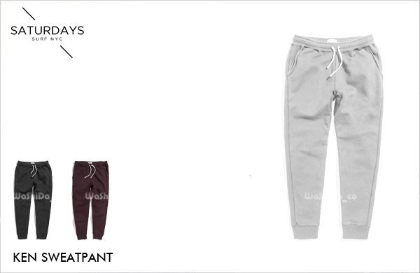 WaShiDa【1055】SATURDAYS NYC 美國品牌 KEN SWEATPANT 基本款 休閒 綿褲 長褲