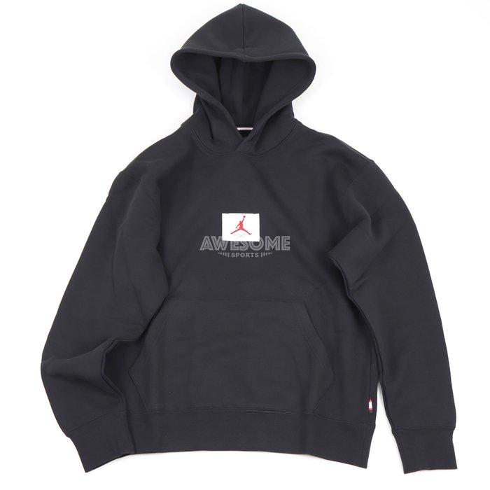 [歐鉉]NIKE JORDAN FLIGHT 黑色 刷毛 連帽 帽T 男生 CZ8261-010