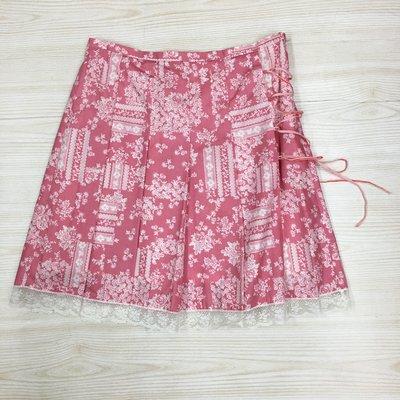 【愛莎&嵐】 T-PARTS 女款粉色短裙  1090330