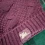 專櫃top-girl紫色反摺暖暖毛線帽(1折)