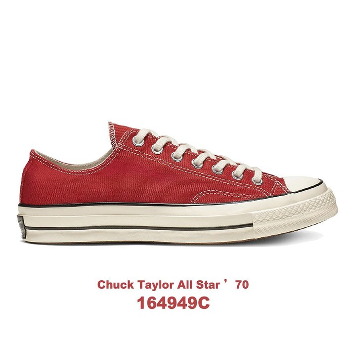【QUEST】CONVERSE ALL STAR 1970 匡威 三星標 紅色 低筒 帆布 男女 164949C