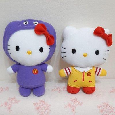 ☆韓兒小屋╭*2012麥當勞kitty限量玩偶~麥當勞叔叔/奶昔大哥 Hello Kitty娃娃~收藏