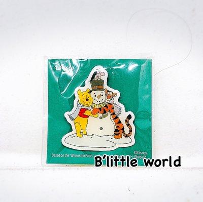 *B'Little World * [現貨] 東京迪士尼專賣店限定商品/維尼跳跳虎聖誕金屬小胸章/東京連線