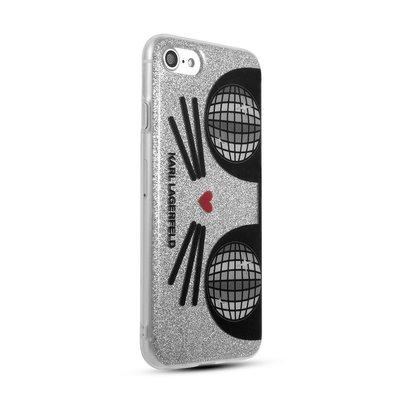 預購 美國帶回 正版授權 Karl Lagerfeld 卡爾老佛爺 I-PHONE 7 8 透明手機保護殼