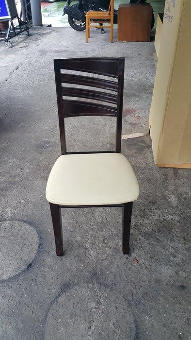樂居二手家具 全新中古傢俱賣場 * F0603CJJ 胡桃色白面餐椅 *洽談椅 會議椅 麻將桌椅 電腦桌椅 書桌椅