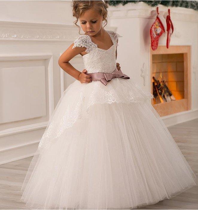 紫滕戀推出兒童禮服公主裙女童婚紗生日演出服鋼琴裙花童禮服加裙撐