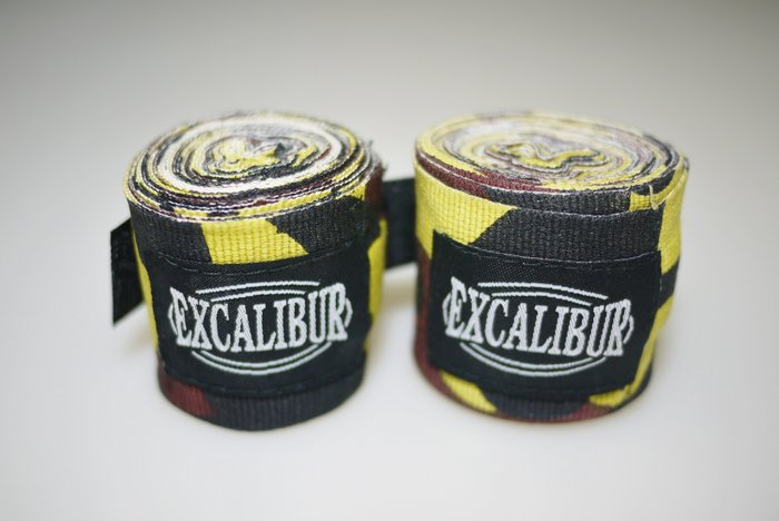 【神拳阿凱】Excalibur 1580/1583 拳擊手綁帶 手繃帶 纏手 400cm 加厚型 迷彩/黑色(免運)