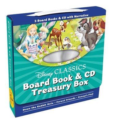 *小貝比的家*DISNEY CLASSICS BORAD BOOK & CD TREASURY BOX/盒裝書+CD
