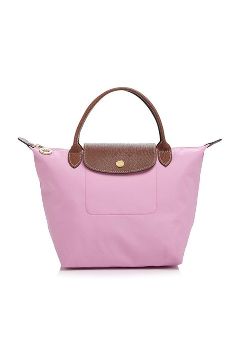 Coco小舖Longchamp Le Pliage Small Top Handle Nylon Handbag小款粉色