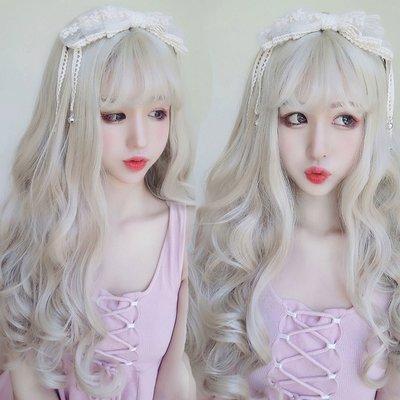 亞麻白金色 女神級 耐熱 長捲髮 超美假髮【MA442】☆雙兒網☆