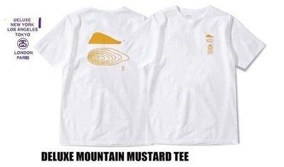 【 超搶手 】全新正品 2012 S/S 最新 高端支線 STUSSY DELUXE MOUNTAIN MUSTARD TEE 白色 S M